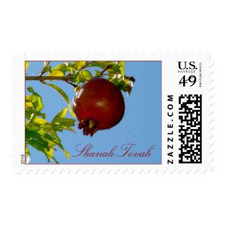 Pomegranate Rosh Hashanah Stamp