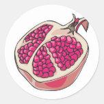 pomegranate round sticker
