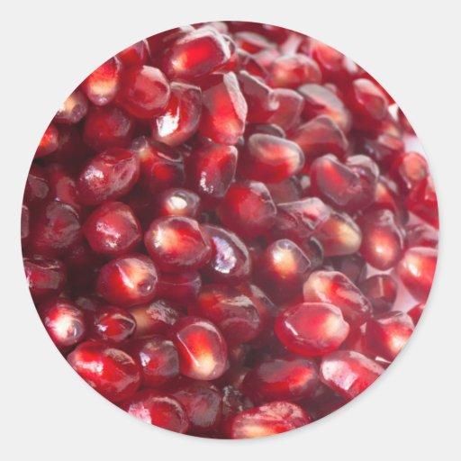 Pomegranate seeds classic round sticker