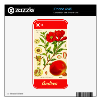 Pomegranate Skin For The iPhone 4