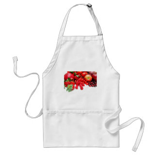 Pomegranate Strawberries And Raspberries Adult Apron