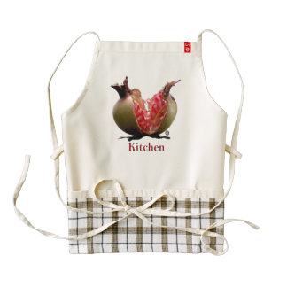 Pomegranate Zazzle HEART Apron