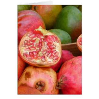 Pomegranates and Mangos in Zurich Greeting Card