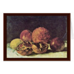 Pomegranates By Courbet Gustave Greeting Cards
