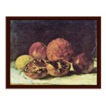 Pomegranates By Courbet Gustave Post Cards