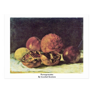 Pomegranates By Courbet Gustave Postcard