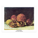 Pomegranates By Courbet Gustave Postcards