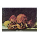 Pomegranates By Courbet Gustave Print