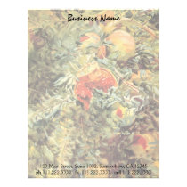 Pomegranates II by Sargent, Vintage Garden Art Letterhead
