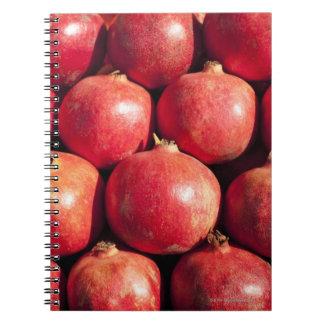 Pomegranates on display at the Carmel Market Notebook