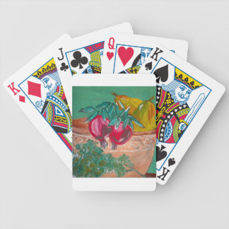 Pomegranates Pears And Parsley Bicycle Playing Cards
