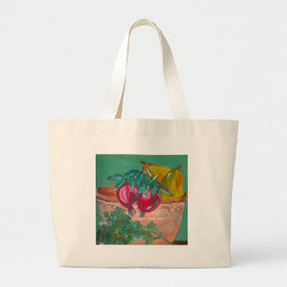 Pomegranates Pears And Parsley Canvas Bags