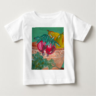 Pomegranates Pears And Parsley Design Baby T-Shirt