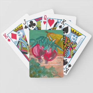 Pomegranates Pears And Parsley Design Bicycle Playing Cards