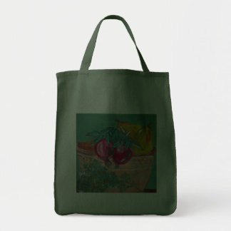 Pomegranates Pears And Parsley Design Canvas Bag