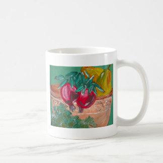 Pomegranates Pears And Parsley Design Coffee Mug