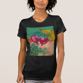 Pomegranates Pears And Parsley Design T-Shirt