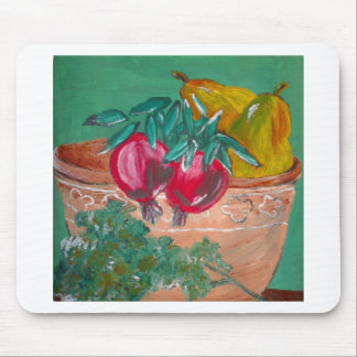 Pomegranates Pears And Parsley Mousepads