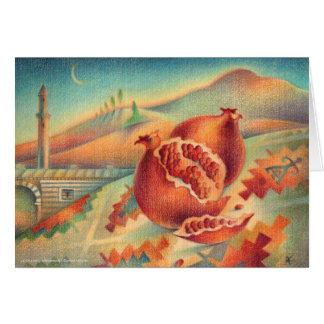 Pomegranates Symbols of Abundance Card