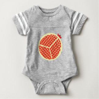 pomegrante in the inside baby bodysuit