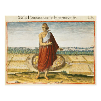 Pomeiooc Elder in a winter garment Postcard