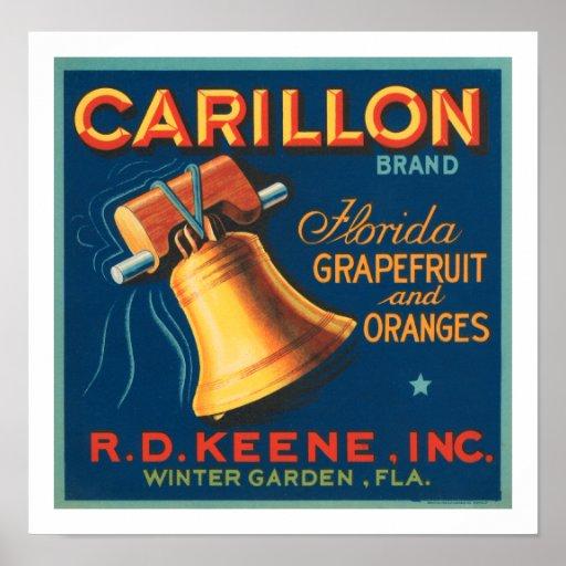 Pomelo de la Florida de la marca del carillón Poster