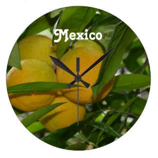 Pomelo de México Reloj De Pared