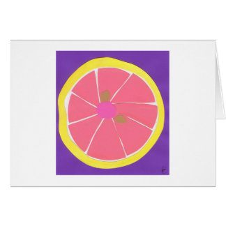 Pomelo rosado tarjetas