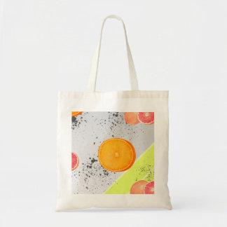 Pomelo y naranja del collage del arte moderno bolsa tela barata
