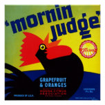 Pomelo y naranjas del juez de Mornin Posters