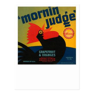 Pomelo y naranjas del juez de Mornin Postal