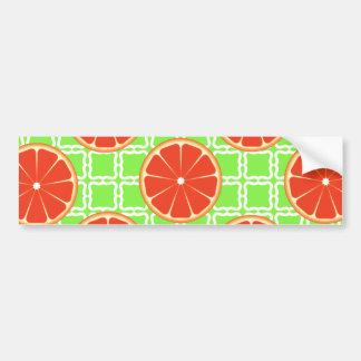 Pomelos brillantes de la fruta cítrica del verano pegatina para auto