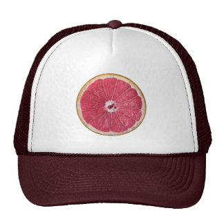 Pomelos rojos jugosos gorras de camionero