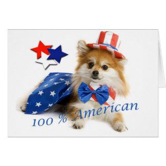 Pomeranian 100 percent american card