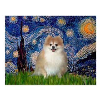 Pomeranian 1 - Starry Night Postcard