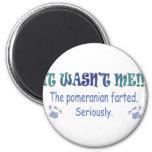 Pomeranian 2 Inch Round Magnet