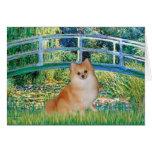 Pomeranian 3 - Bridge Greeting Card