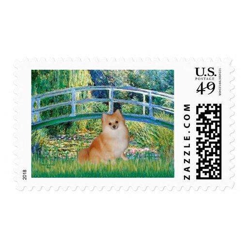 Pomeranian 3 - Bridge Postage Stamp