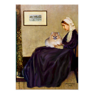 Pomeranian 4 - Whistlers Mother Posters