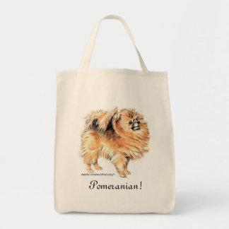 Pomeranian! Grocery Tote Bag