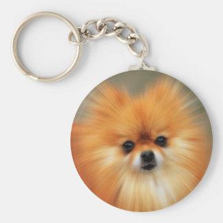 Pomeranian Basic Round Button Keychain