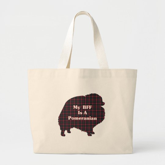 Pomeranian BFF Gifts Large Tote Bag