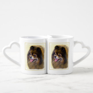 Pomeranian (Black and Tan) Coffee Mug Set