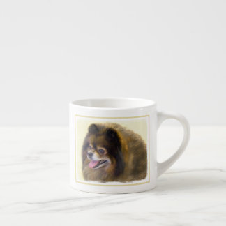 Pomeranian (Black and Tan) Espresso Cup