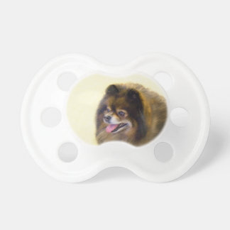 Pomeranian (Black and Tan) Pacifier