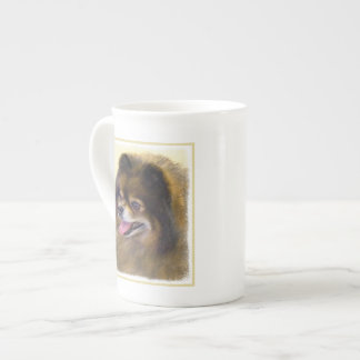 Pomeranian (Black and Tan) Tea Cup