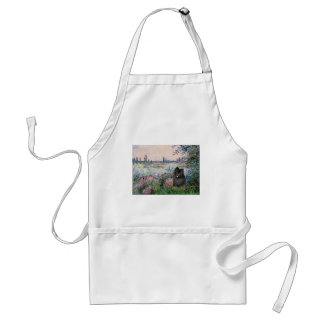 Pomeranian (black) - By the Seine Adult Apron