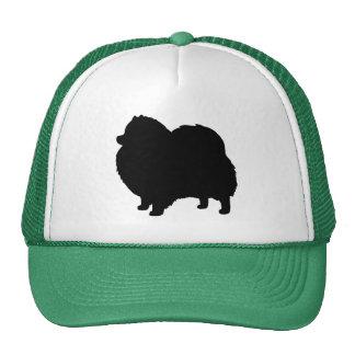 Pomeranian Black Dog Silhouette Hat
