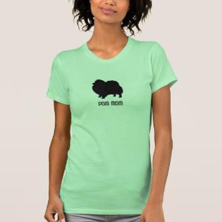 Pomeranian Black Dog Silhouette with Custom Text T-shirt