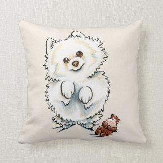 Pomeranian Boo Boo Throw Pillow